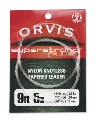 Orvis SS Plus Knotless Leaders 2pk Olive 12ft