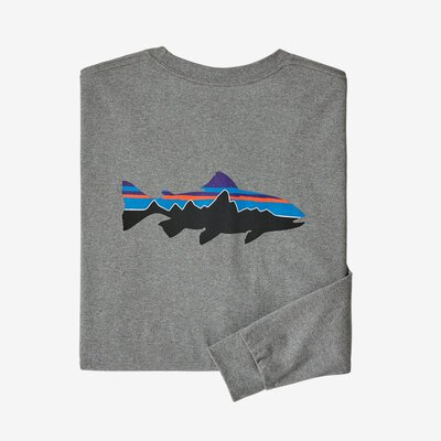 Patagonia M's Long Sleeve Fitz Roy Trout Responsibili-Tee
