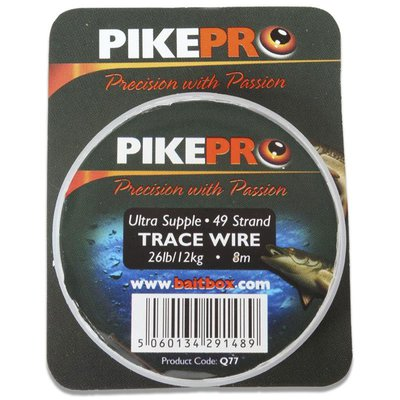 PikePro 49 Strand Trace Wire 40lb 8m Spool
