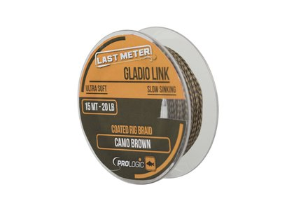 Prologic Gladio Link 15m 40lb Coated Camo Brown