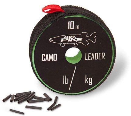 Quantum Mr. Pike Camo Coated AFW Leader Material 10m 14kg.30lbs Camo