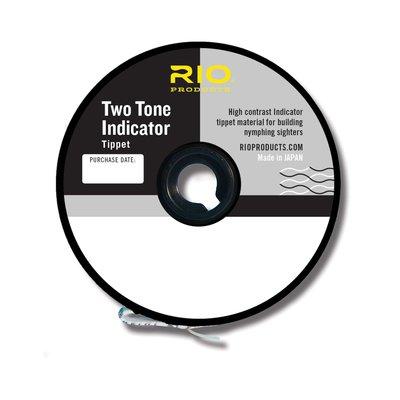 Rio 2-Tone Indicator Tippet 30yd Black/White