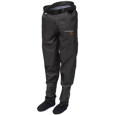 Savage Gear #SAVAGE Denim Waist Waders with Stocking Foot