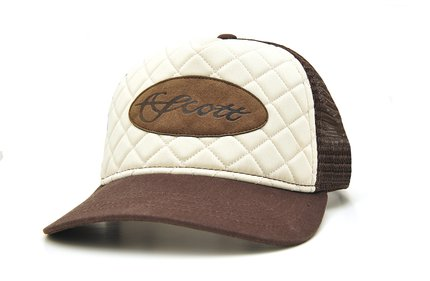 Scott Quilted Leather Patch Brown/Off.White