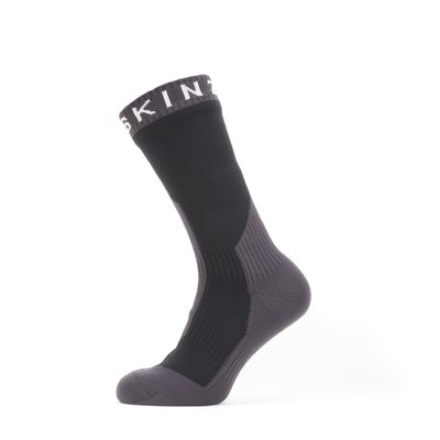 Sealskinz Waterproof Extreme Cold Weather Mid Length Sock Black/Grey/White S