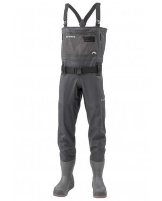Simms ExStream Breathable Chest Waders Bootfoot Felt Black