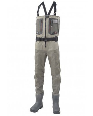 Simms G4Z Breathable Chest Waders Bootfoot Vibram Greystone