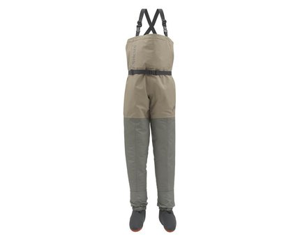 Simms Kids Breathable Stockingfoot Chest Waders - Tan