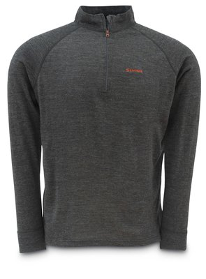 Simms Merino Mid Zip Top Charcoal