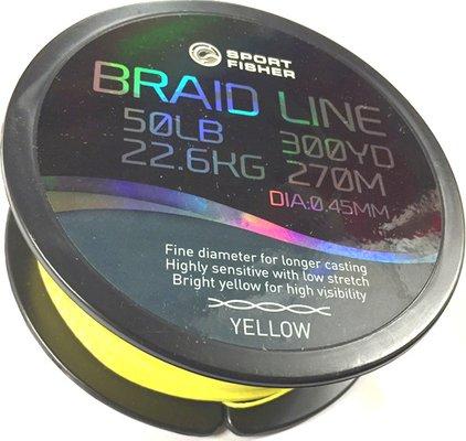Sport Fisher Hi Viz Yellow Braid 150yd