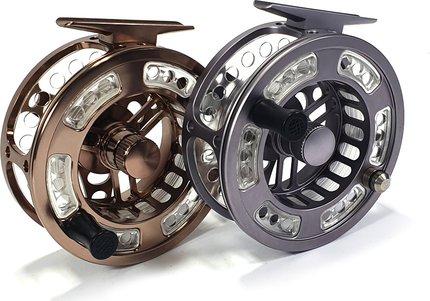 Stillwater CNC Trico Cassette 7/8 Fly Reel + 2 Spare Spools + Bag