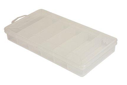 Stillwater 6 Compartment Bit Box Clear