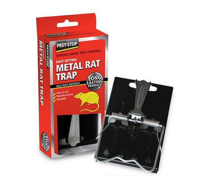 Pest Stop Easy Setting Metal Rat Trap (Boxed)