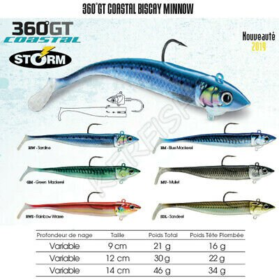 Storm 360GT Biscay Minnow Mounted Lures