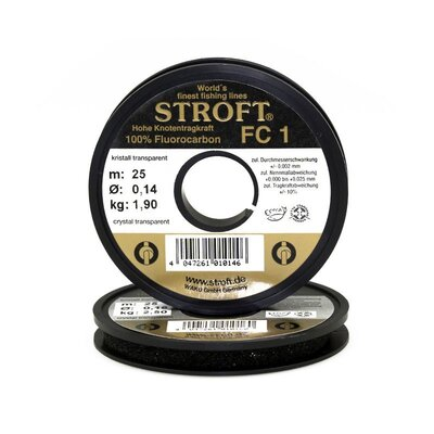 Stroft FC1 100m Crystal Translucent 100% Fluorocarbon