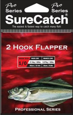 Surecatch 2 Hook Flapper Rig Sz1 20lb
