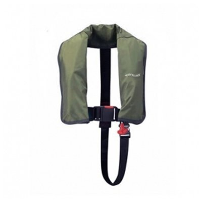 Waveline Olive 165N ISO Manual LifeJacket With Crutch Strap