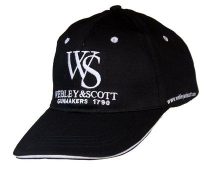 Webley Black Webley & Scott Cap with Embroidered Logo (One Size)