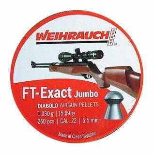 Weihrauch FT Exact Jumbo Diablo Airgun Pellets .22 250pc