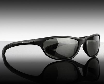 Wychwood Black Wrap Sunglasses