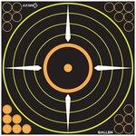 Allen Splash Adhesive Bullseye Target 12in 5 Pack