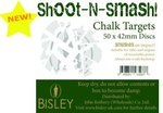 Bisley Shoot N Smash 42mm Chalk Targets (50 Box)