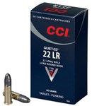 CCI .22 LR Quiet Subsonic 40 Grain Solid 720 fps (50 Box)
