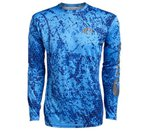 Costa Del Mar Technical Hexo Camo Blue Long Sleeve Shirt