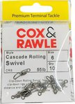 Cox & Rawle Cascade Rolling Swivel Black Nickel Size 6 10pc 55lb