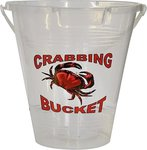 Crab Busters 9 Inch Crab Bucket with Pouring Lip