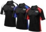 Daiwa Black Polo Shirt With Coloured Stripes