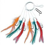 Fladen 12 x Assorted Rigs & Feathers For Mackerel