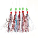 Fladen Red/Turquoise Glitter Rig 5 Hook Size 1/0