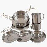 Highlander Peak Weekender Stainless Steel Cookware 7pc Set
