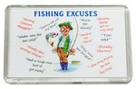 Just Fish Fisherman's Excuses Acrylic Fridge Magnet