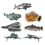 Just Fish Pewter Lapel Pins