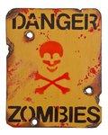 Kombat Danger Zombies Sign 8in x 10in