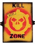 Kombat Kill Zone Sign 8in x 10in