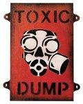 Kombat Toxic Dump Sign 8in x 10in