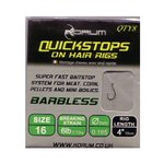 Korum Quickstops on Hair Rigs