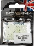 Leeda ICON Oval Luminous 4mm Beads