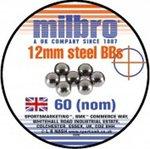 Milbro 12mm Steel Heavy Catapult Ammo (60 Tin)