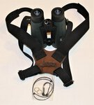 Mjoelner Binocular Carrying Harness Black Webbing/Leather