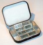 Richard Wheatley 12 Compartment Black Aluminium & Foam Lid Fly Box