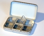 Richard Wheatley 6 Compartment and Foam Lid Fly Box