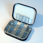 Richard Wheatley 8 Compartment Black Aluminium & Foam Lid Fly Box
