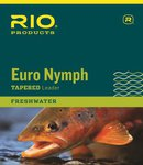 Rio Euro Nymph Leader 11ft 0X/2X Black & White