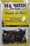 Sea-Match Diamond Eye Swivels 50pc Size 10