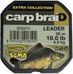 Sema Carpbraid Leader Brown / Green 4.50kg 10lb 20m