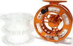 Stillwater CNC Phoenix #5/7 Cassette Fly Reel + 2 Spare Spools + Bag Orange